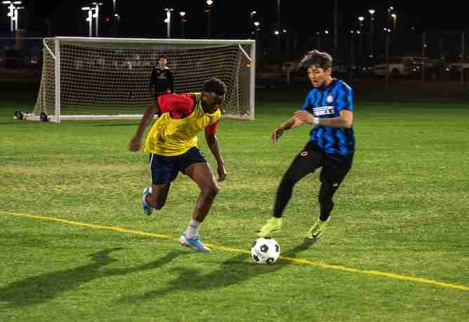 7aside soccer is perfect combination of an intense work out and ball control for beginners and advanced.